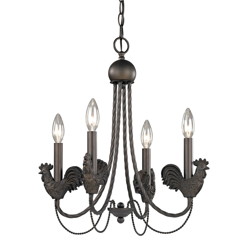 ROOSTER MINI CHANDELIER - DARk BRONZE