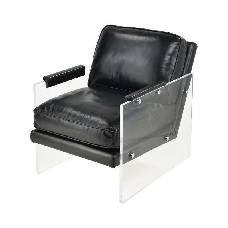 Air To The Throne Chair. BLACK WITH CLEAR