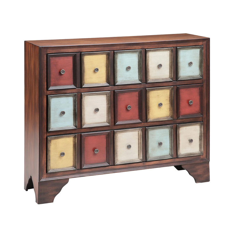 Brody 3-Drawer Chest in Mult-Colored