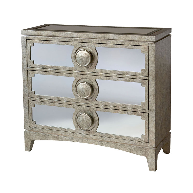 Carlton Chest in Hand-Painted,Champagne,Black