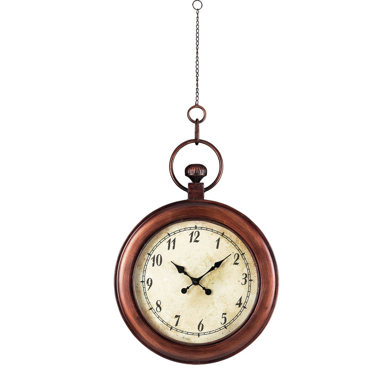 ANTIQUE REPRODUCTION HANGING CLOCk - BELA VISTA BROZE
