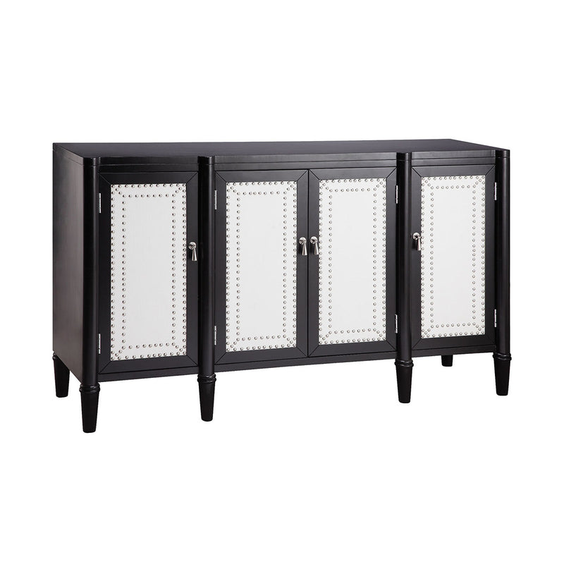 Harlond Cabinet in Hand-Painted,Black,White