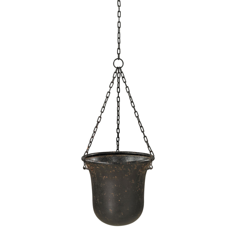 HANGING PLANTER - Dark Bronze With Rust
