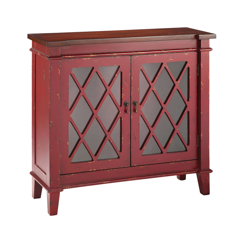 Goshen Red 2-Door Cabinet in Hand-Painted