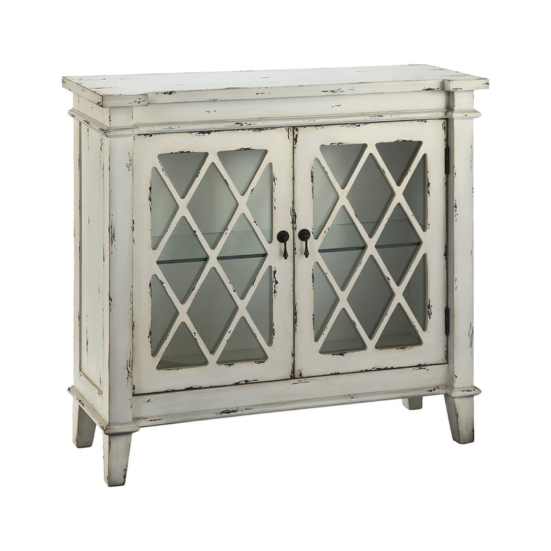 Goshen Creamy White Cabinet in Antique White,Hand-Painted