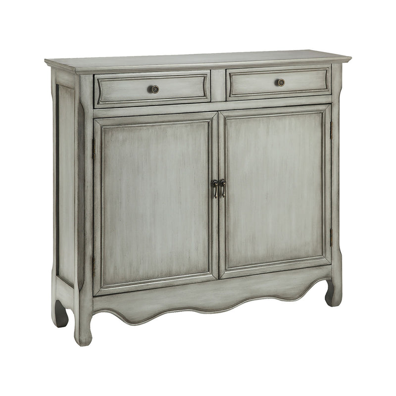 Claridon Gray Cabinet in Hand-Painted,Cream,Tan