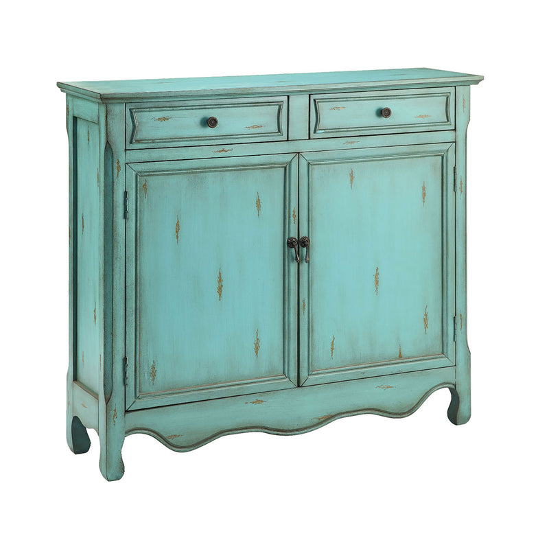 Claridon Blue Cabinet in Blue,Hand-Painted