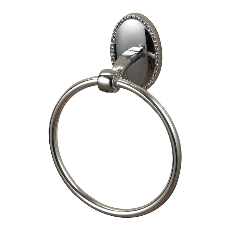 TOWEL RING IN CHROME - CHROME