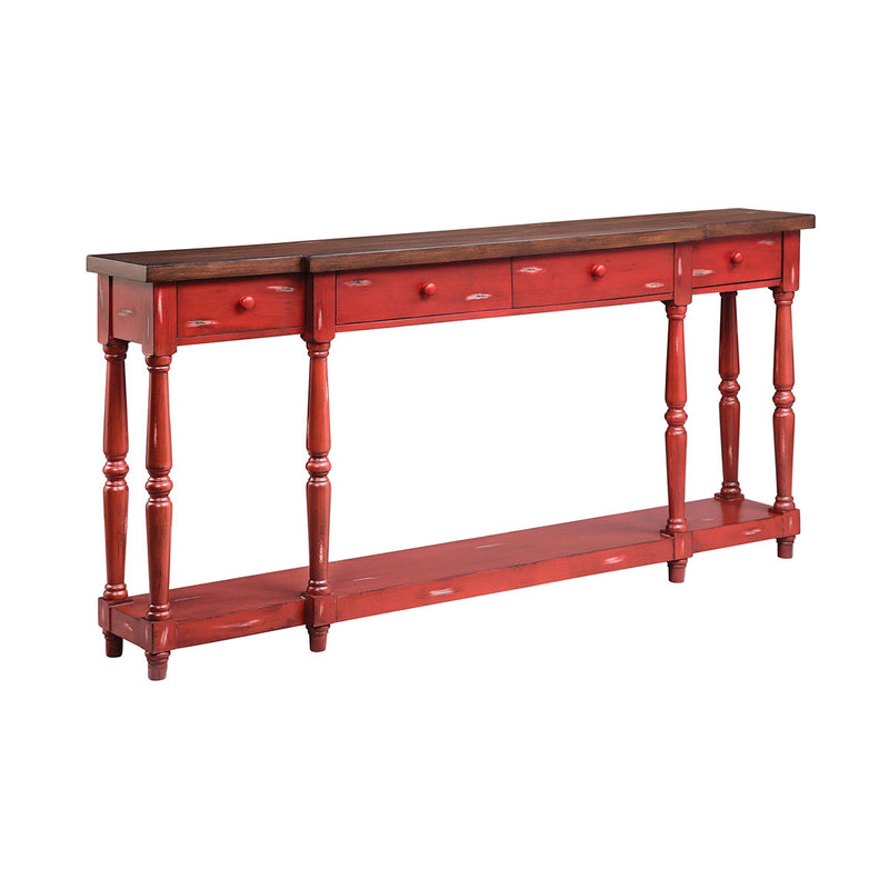 Simpson Console in Hand-Painted,Red