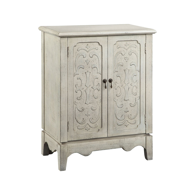 Cora Cabinet in Hand-Painted,Aged Pearl White