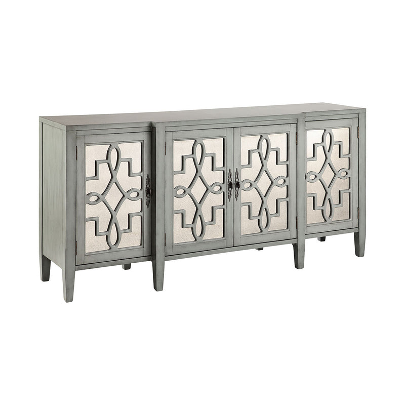Lawrence Cabinet In Soft Gray-Blue in Hand-Painted,Gray,Blue