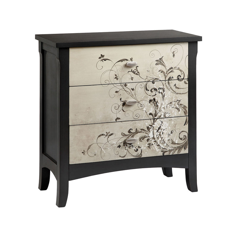 Graham Chest in Nickel,Hand-Painted,Black