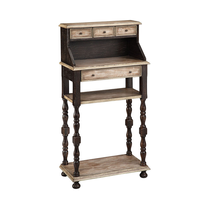 Barbados Writing Desk in Hand-Painted,Espresso,Almond