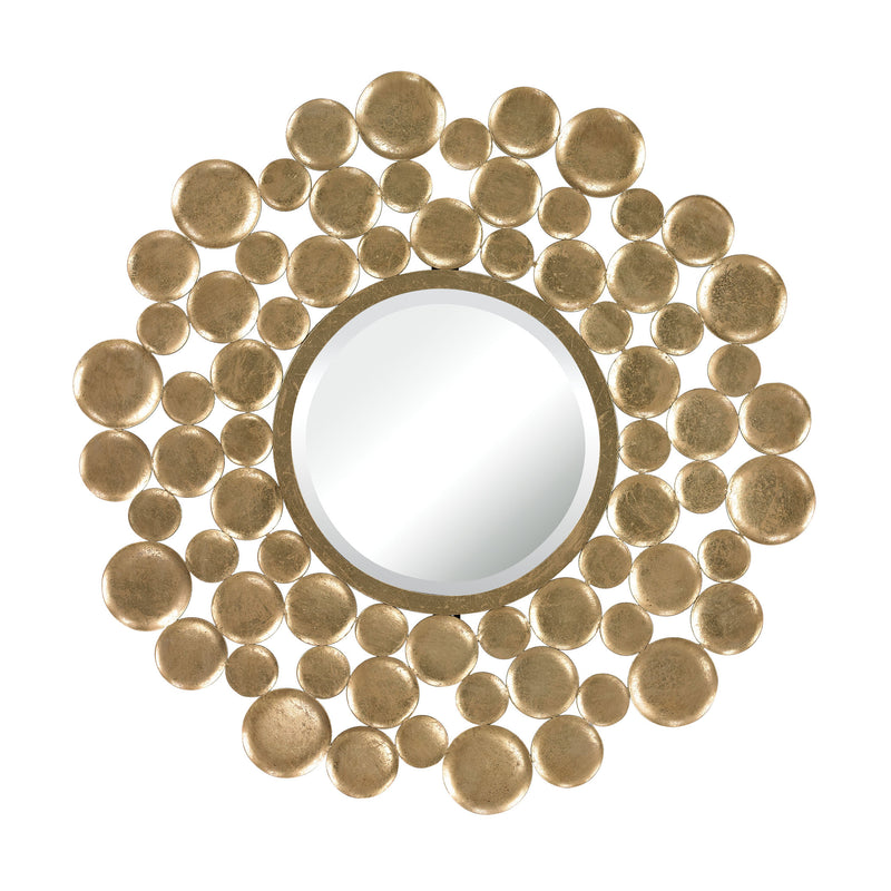 Beattystown Gold Leaf Bubble Frame Mirror - Gold Leaf