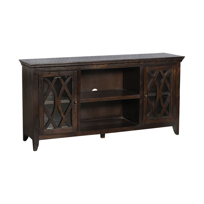 Guana 2-Door Media Console in Burnished Brown