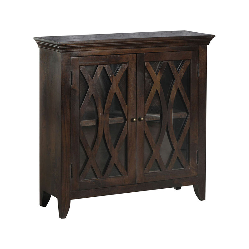 Maho 2-Door Accent Cabinet in Burnished Brown,Wood-Tone