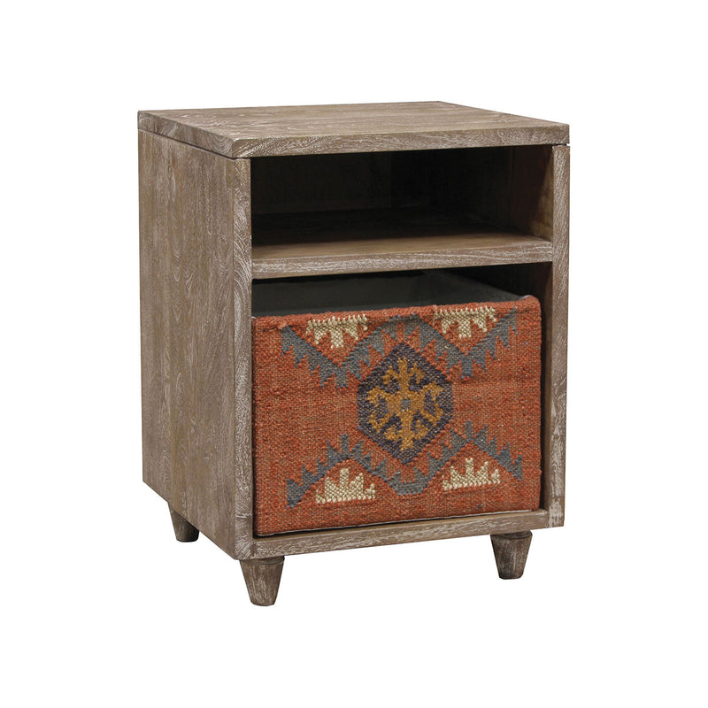 Illanipi End Table in Rust,Navy