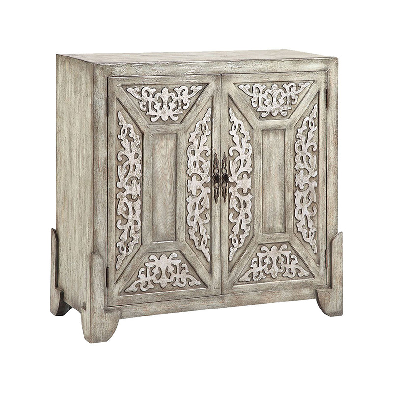 Laural Cabinet in Hand-Painted,Antique Sage