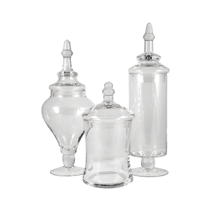 Aris Apothecary Jars - Set of 3 - Clear