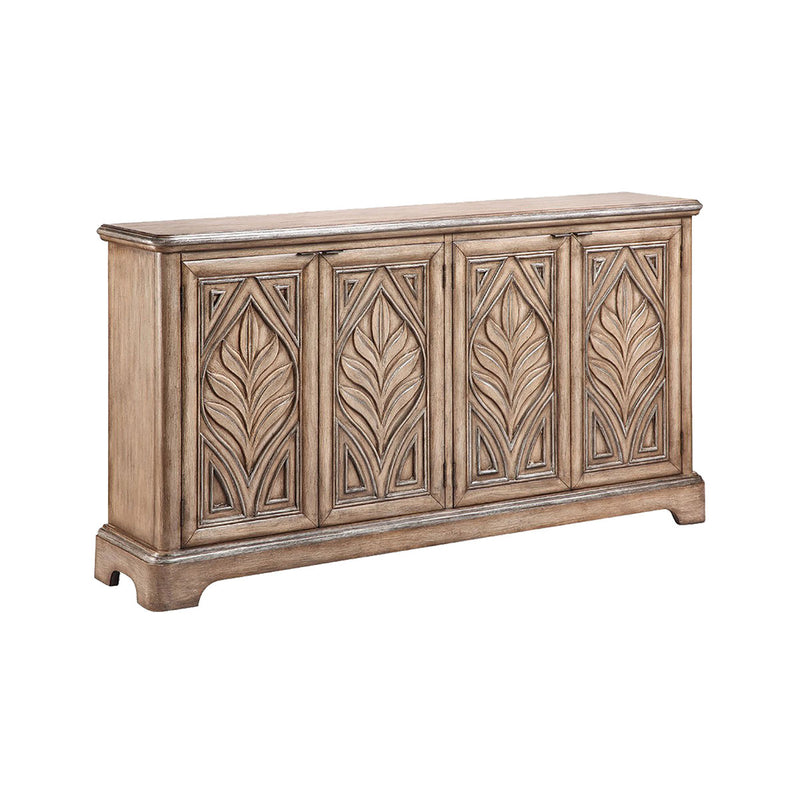 Reynolda Console In Rubbed Antique Wheat in Gray,Antique Wheat
