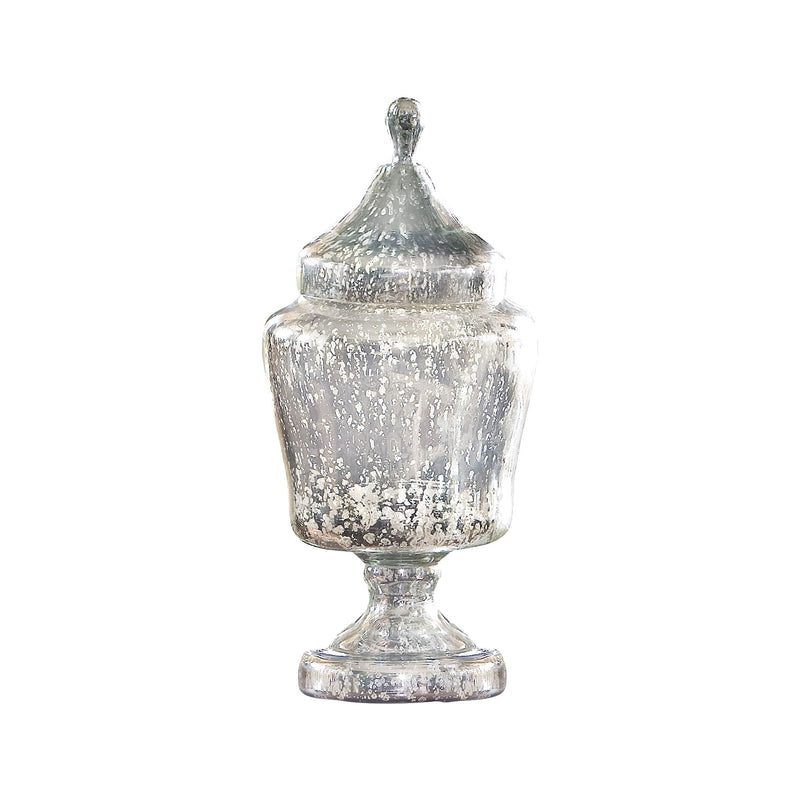 Aria Apothecary Jar - Antique Silver