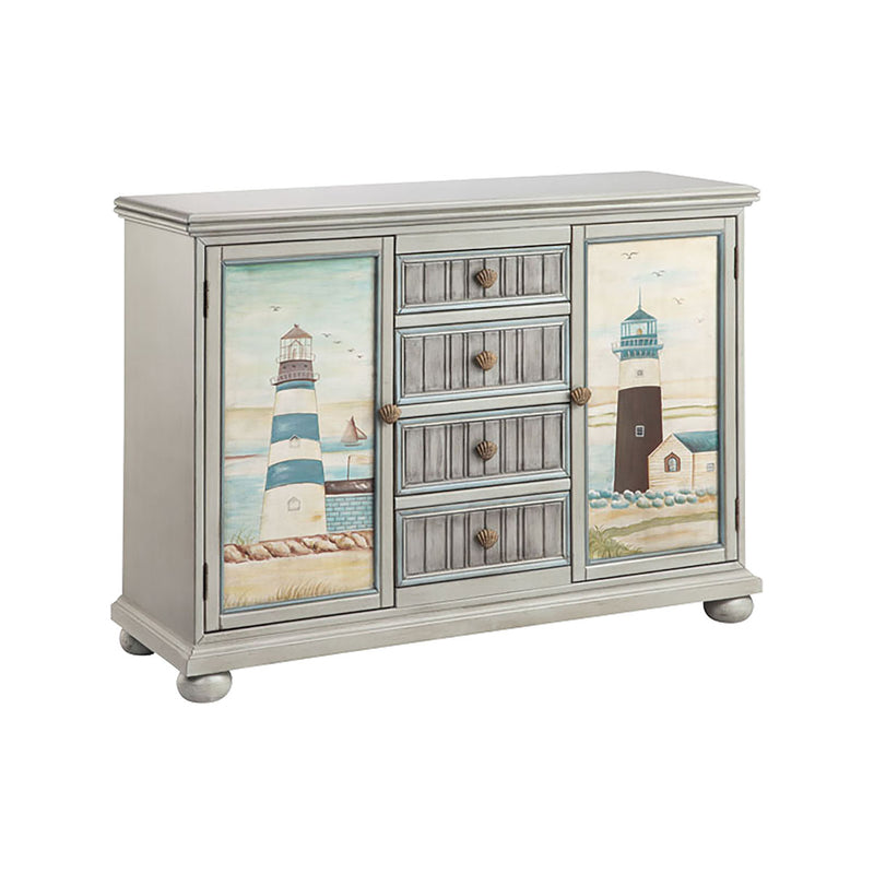 Hatteras Cabinet in Hand-Painted,Grey,Blue
