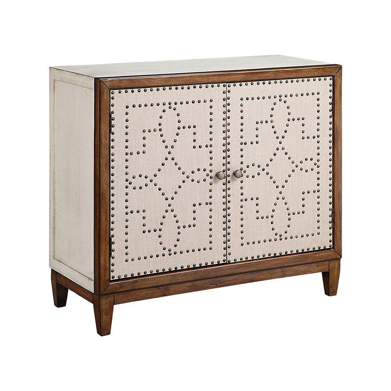 Sutton Cabinet in Hand-Painted,Wood-Tone,Antique Brass