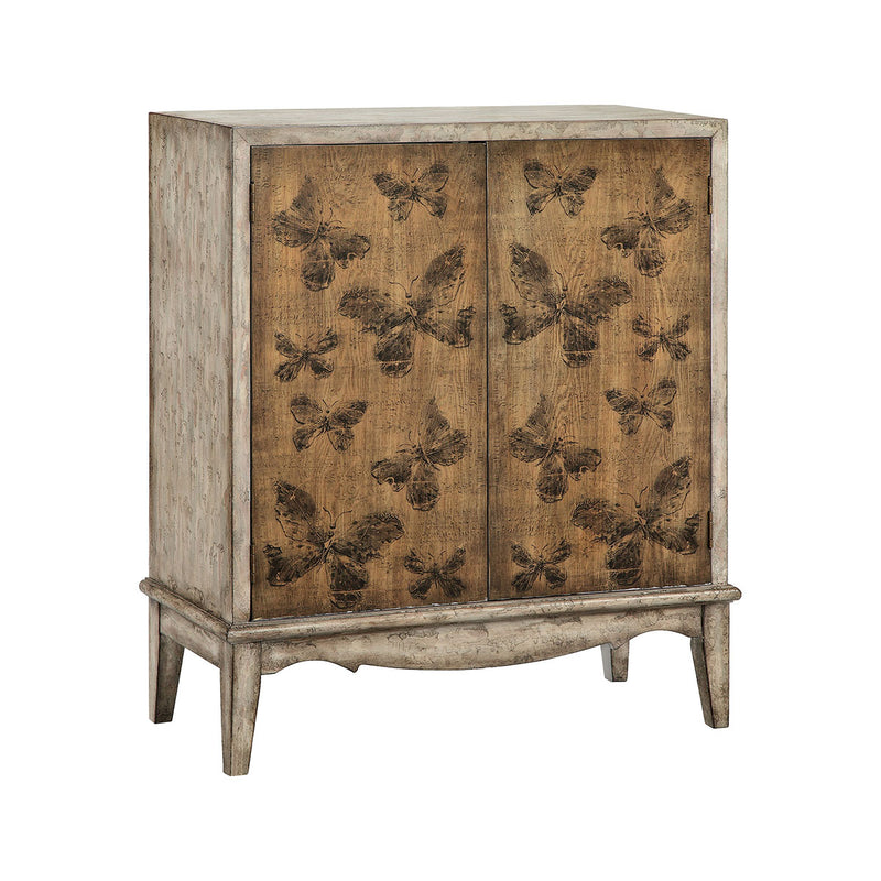 Meadow Cabinet in Hand-Painted,Antique Gray,Brown,Dark Brown