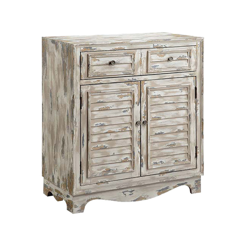 Rufton Accent Cabinet in Hand-Painted,White,Grey,Brown,Antique Bronze