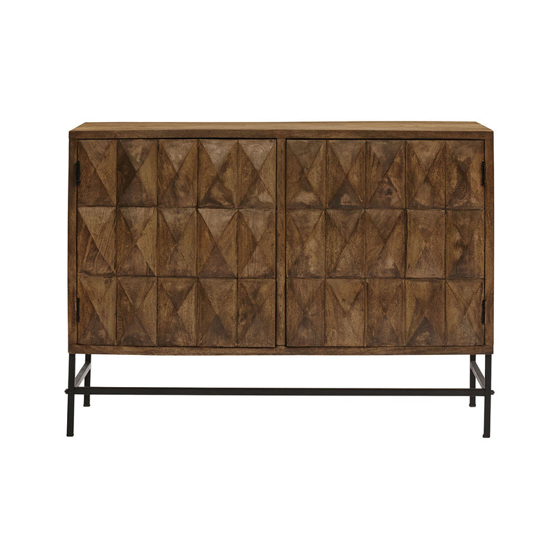 Braden Cabinet in Black,Light Brown