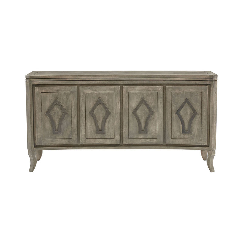 Arrow Curved Console in Gray,Wood-Tone