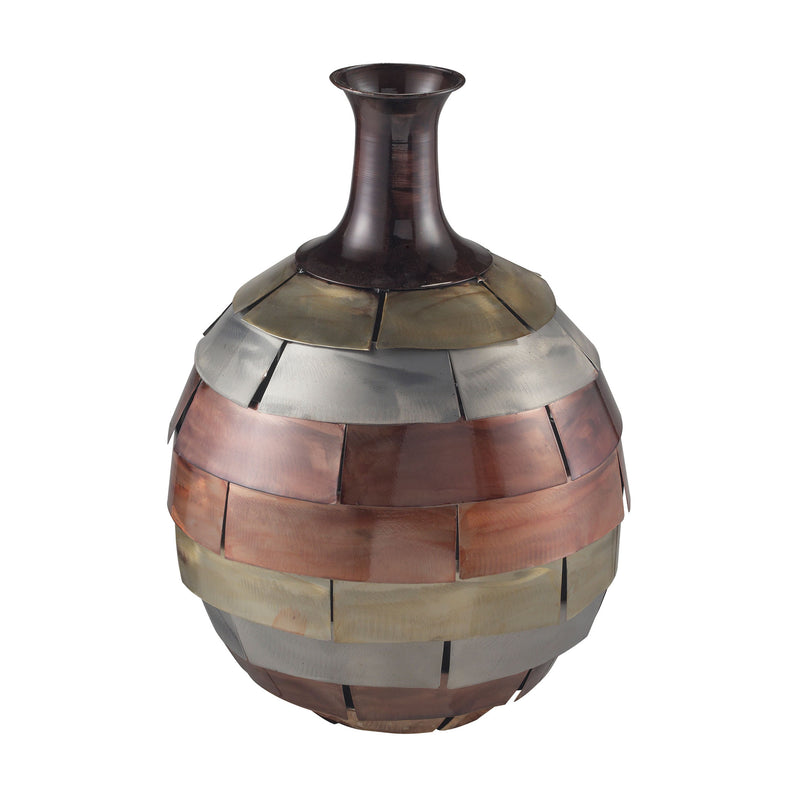MIN 2-PLATED COPPER TONE VASE - MALABAR