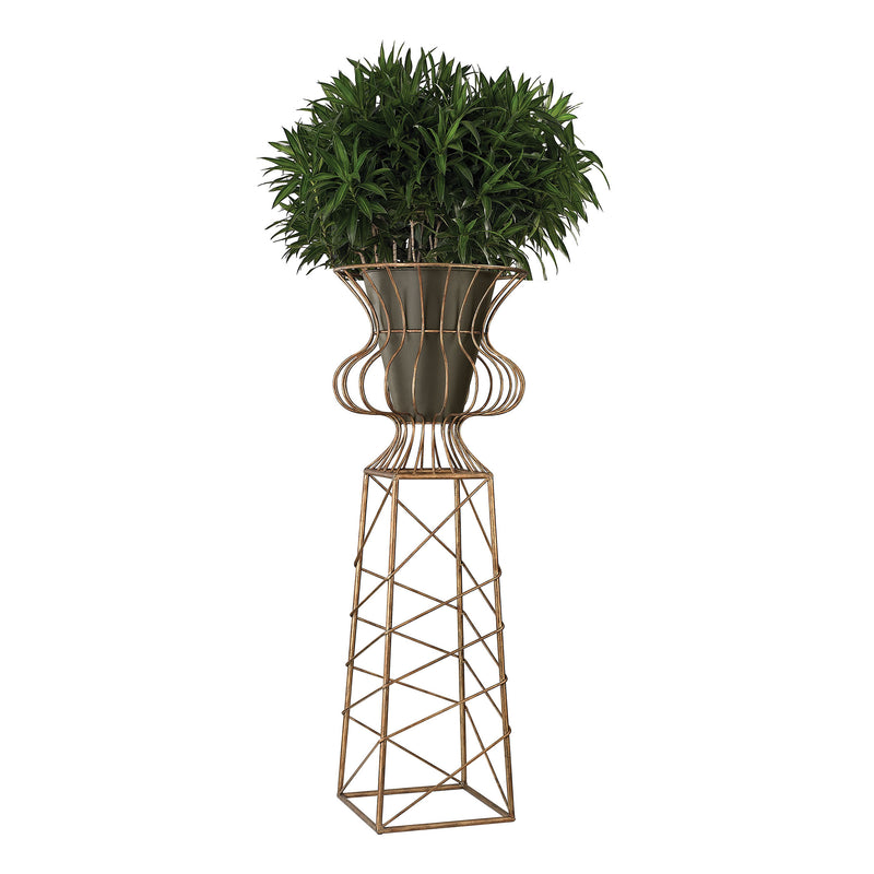 OVERSIZED PLANTER IN GOLD METAL - GARDENHILL GOLD