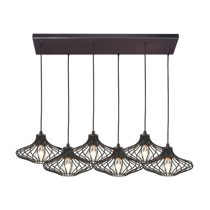 Yardley 6 Light Pendant In Oil Rubbed Bronze - Oil Rubbed Bronze