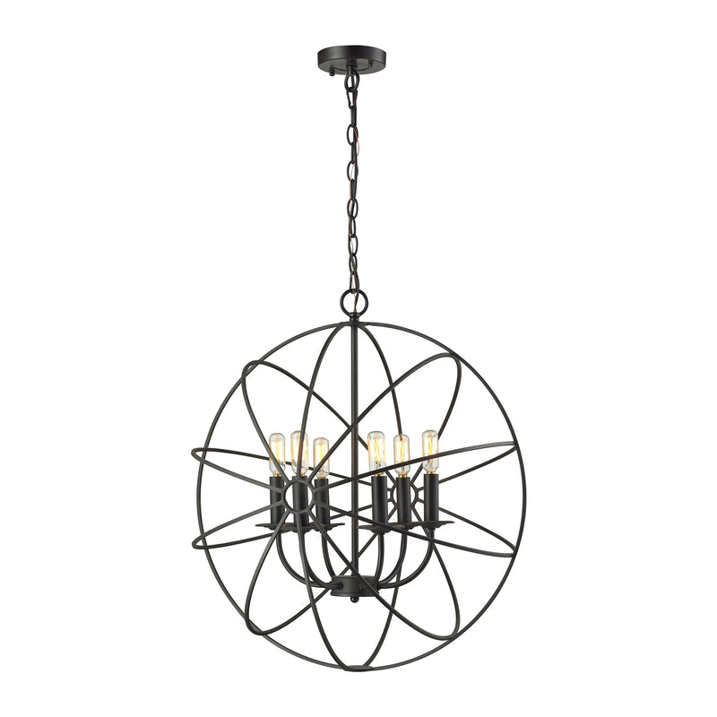Yardley 6 Light Chandelier In Oil Rubbed Bronze - Oil Rubbed Bronze