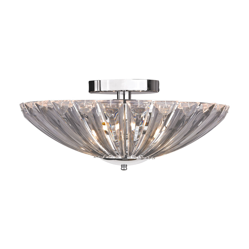 CLEAR ACRYLIC SEMI FLUSH - CHROME