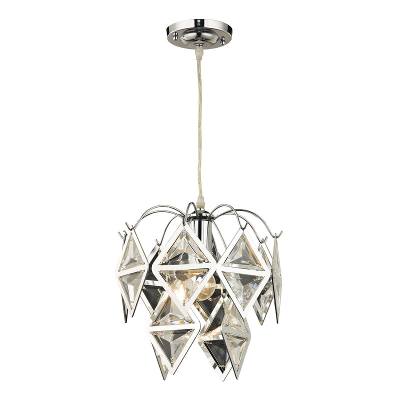 PENDANT IN CLEAR AND CHROME - CHROME