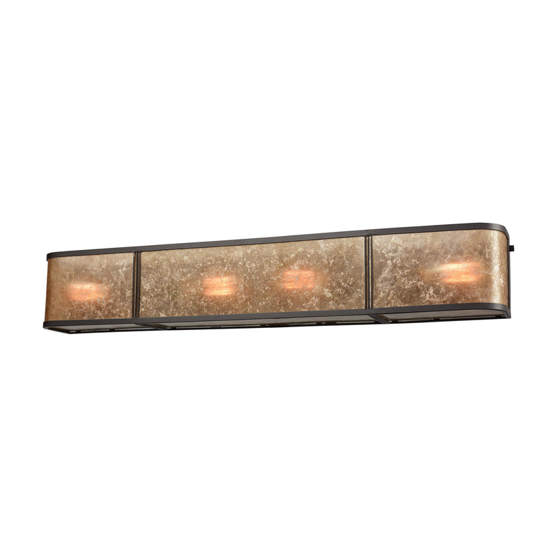 Barringer 4 Light Vanity In Oil Rubbed Bronze With Tan Mica - Oil Rubbed Bronze