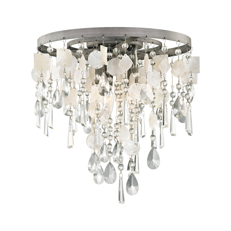 Alexandra 3 Light LED Semi Flush In Weathered Zinc - Weathered Zinc