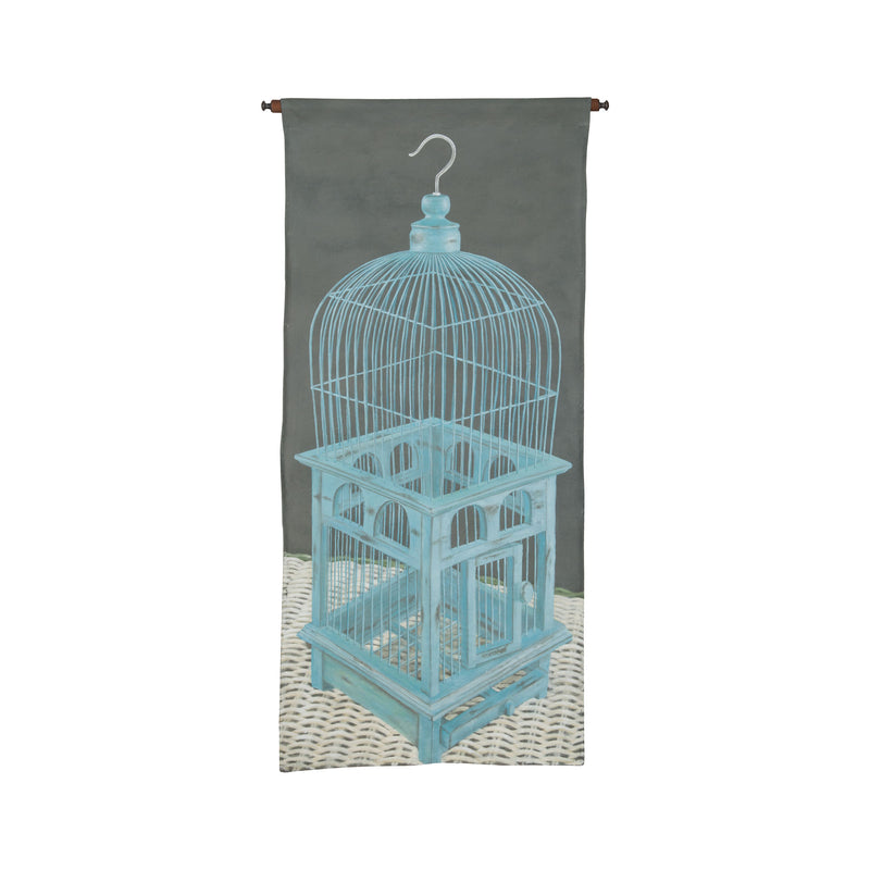 Birdcage Tapestry - Handpainted Art