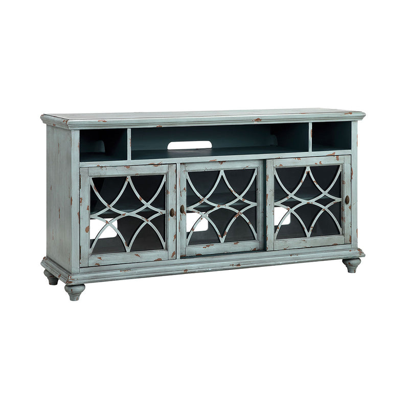 Bethania 64-Inch Entertainment Console in Blue,Grey