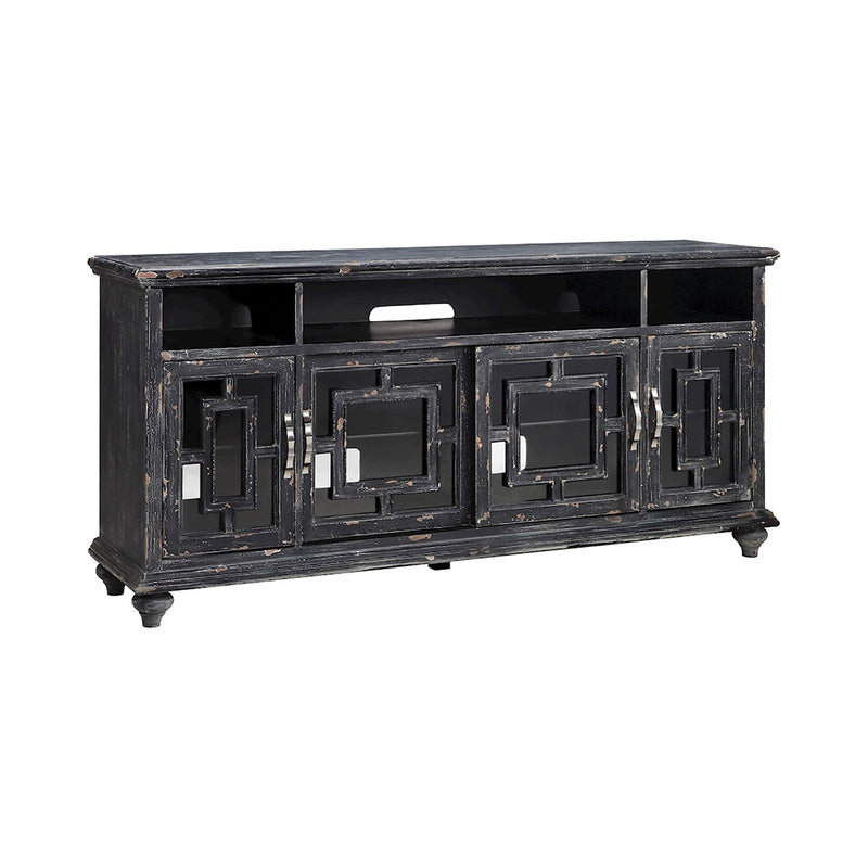 Barado 72-Inch Entertainment Console in Black,Brown