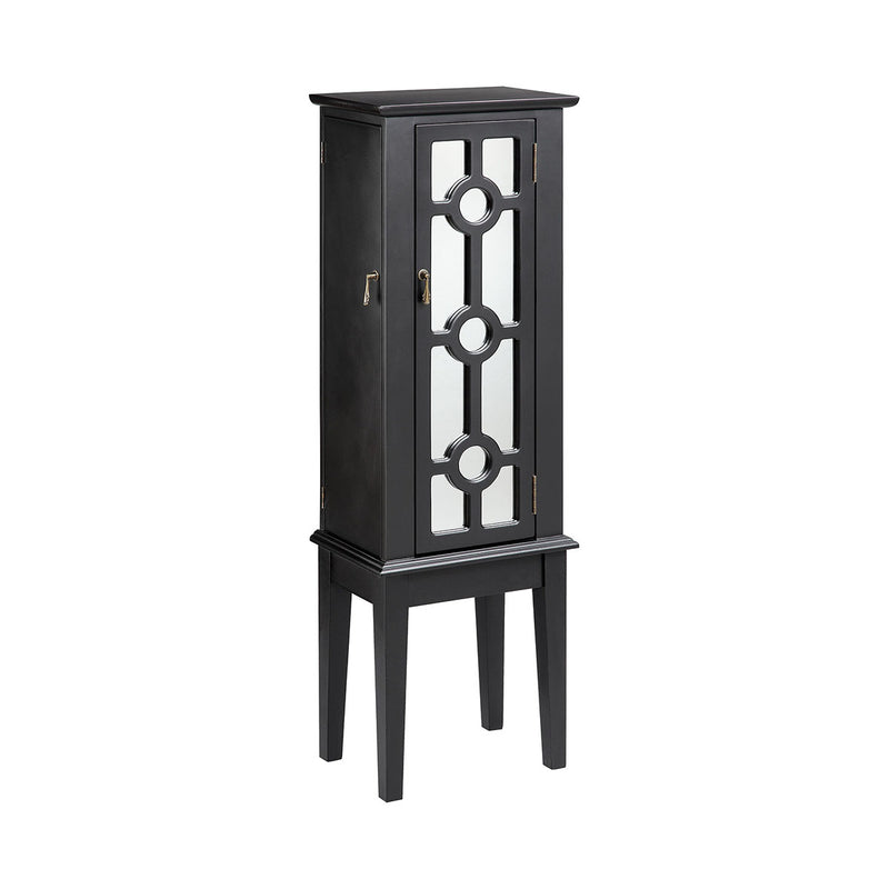 Hines Mirrored Jewelry Armoire in Mirror