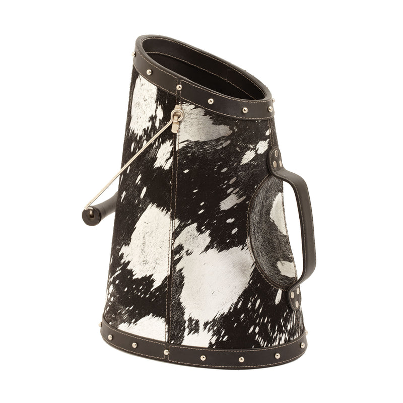 Silver Metallic Faux Pony Coal Buck - Multi
