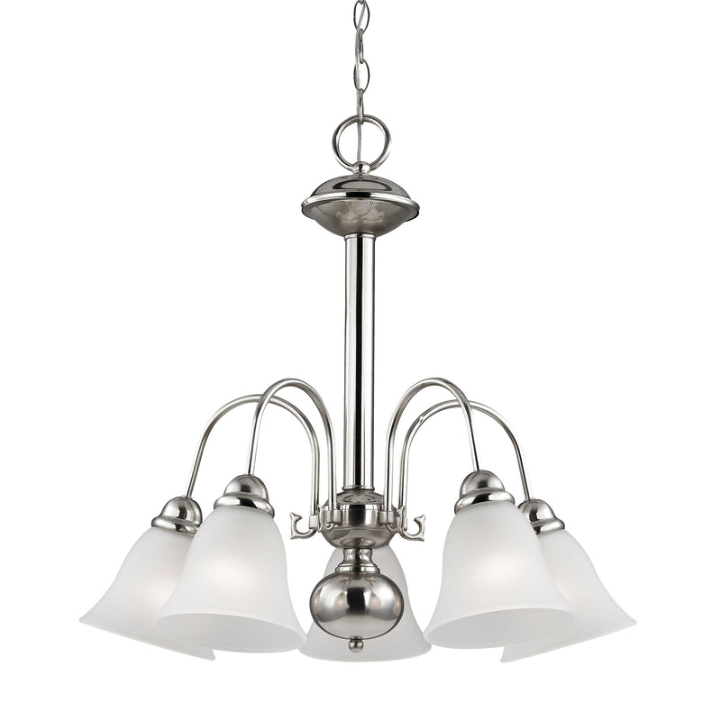 Bellingham 5 Light Chandeier In Brushed Nickel - Brushed Nickel