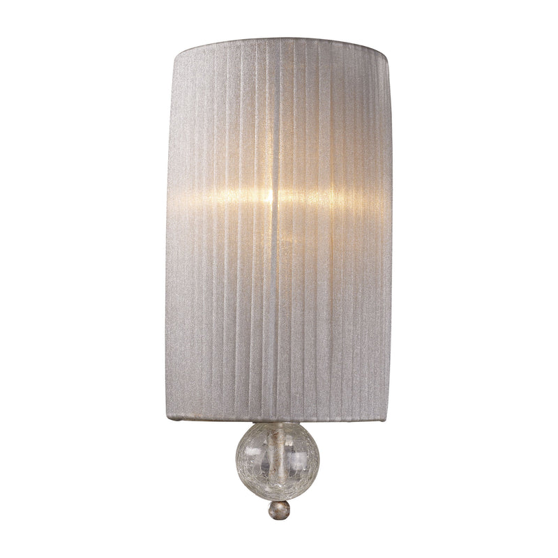 Alexis 1 Light Wall Sconce In Antique Silver - Antique Silver