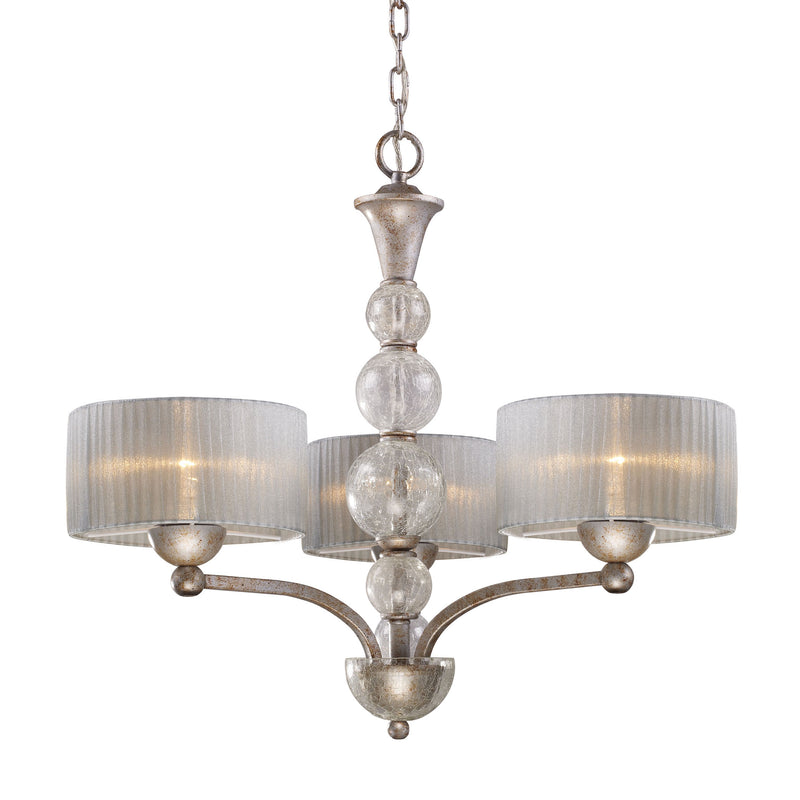 Alexis 3 Light Chandelier In Antique Silver - Antique Silver