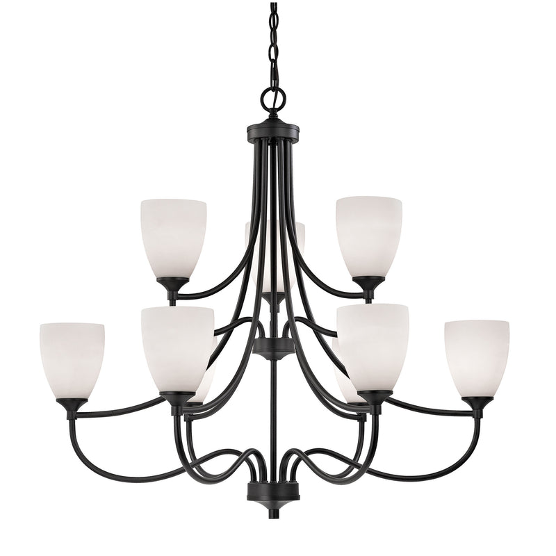 Arlington 9 Light Chandelier In Oil Rubbed Bronze - Oil Rubbed Bronze