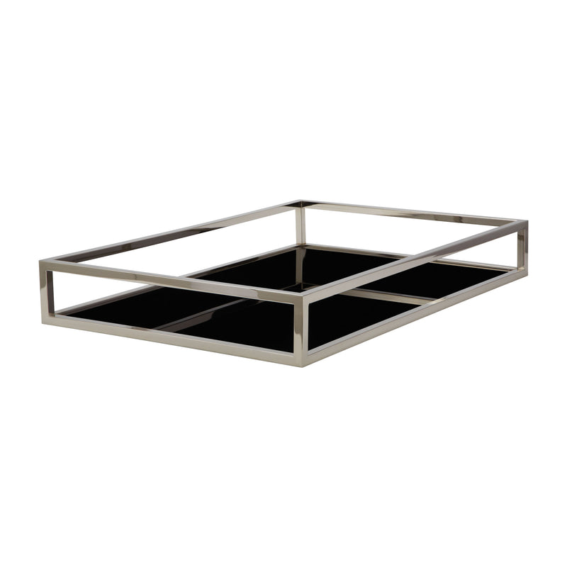 Black Box Rectangular Rod Tray. Black