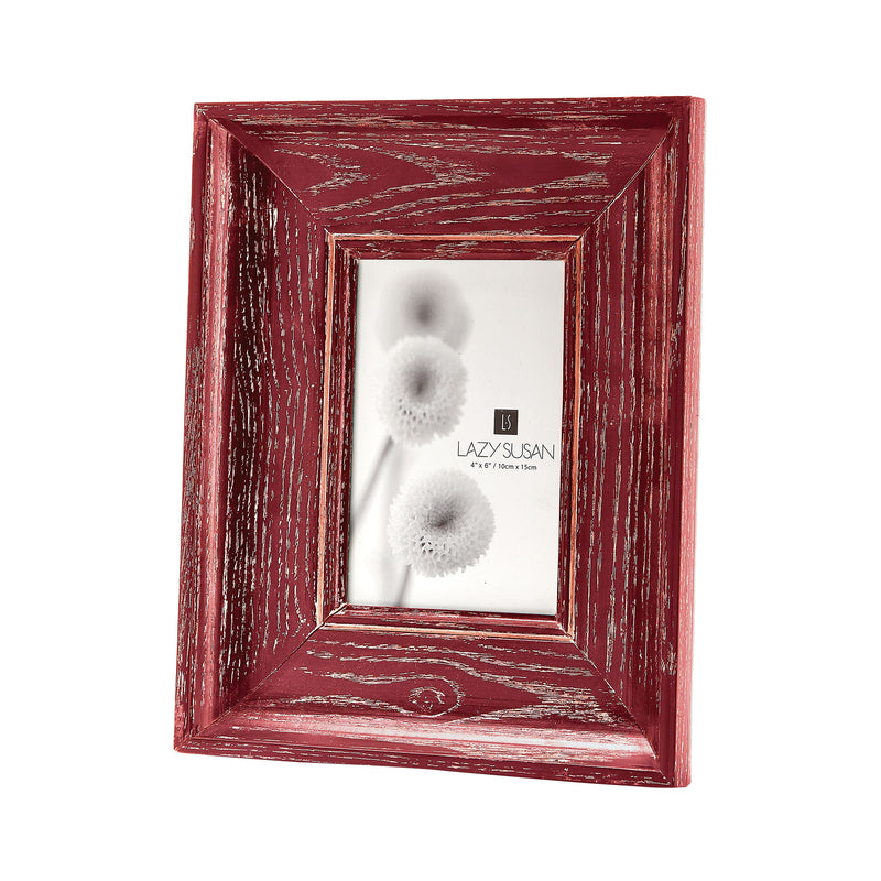 Pickled Red Convex Frame - 4 x 6 - Red